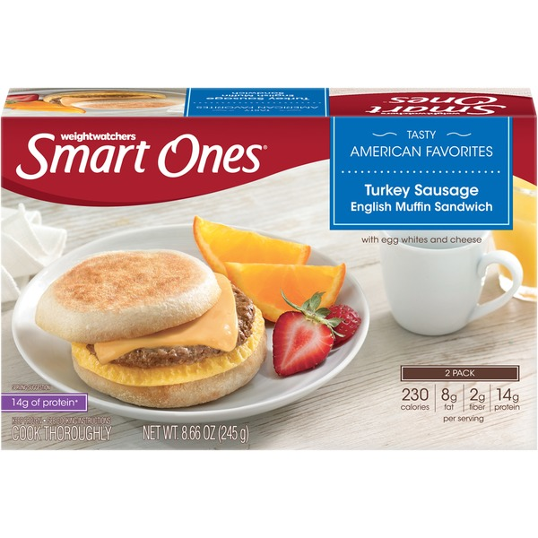 Weight Watchers Turkey Sausage English Muffin Sandwich Tasty American Favorites