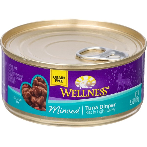 Wellness Minced Canned Cuts Tuna Adult Canned Cat Food