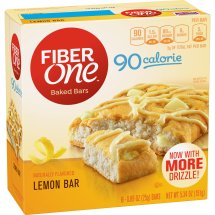 Fiber One 90 Calorie Soft-Baked Bar, Lemon Bar, 6 Fiber Bars, 5.34 oz, 0.89 OZ