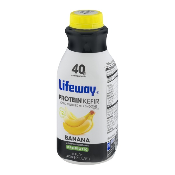 Lifeway Protein Kefir Nonfat Cultured Milk Smoothie Probiotic Banana