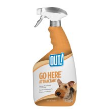OUT! Go Here Attractant Indoor and Outdoor Dog Training Spray, 32 oz