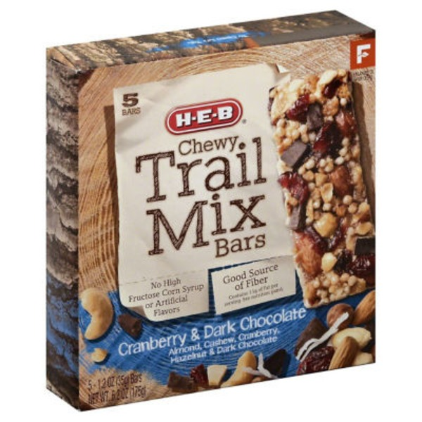 H-E-B Cranberry & Dark Chocolate Chewy Trail Mix Bars