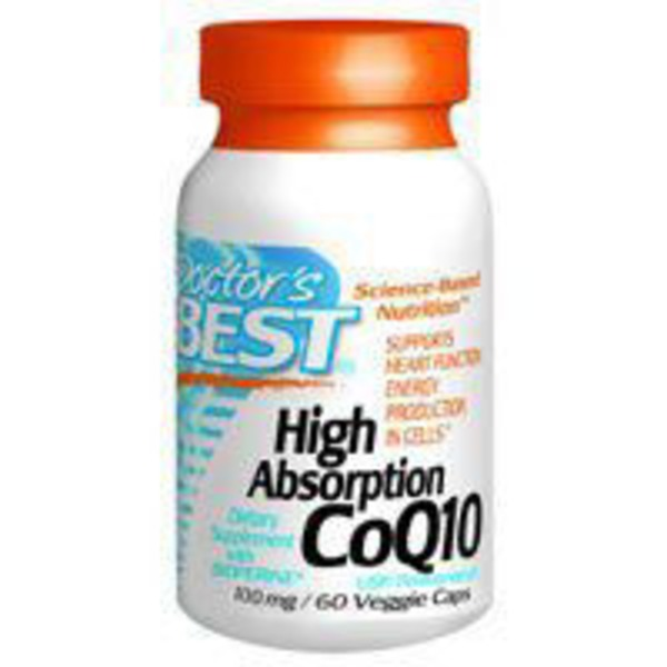 Doctor's BEST High Absorption CoQ10 100mg Veggie Caps - 60 CT