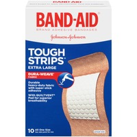 Band Aid® Brand Adhesive Bandages Tough Strips Extra Large 10 ct All One Size Premium