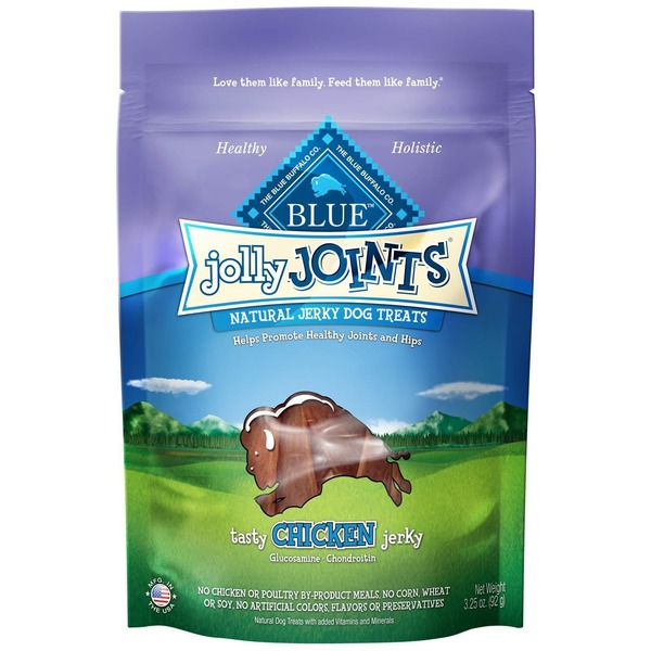 Blue Buffalo Natural Jolly Joints Chicken Jerky Dog Treats