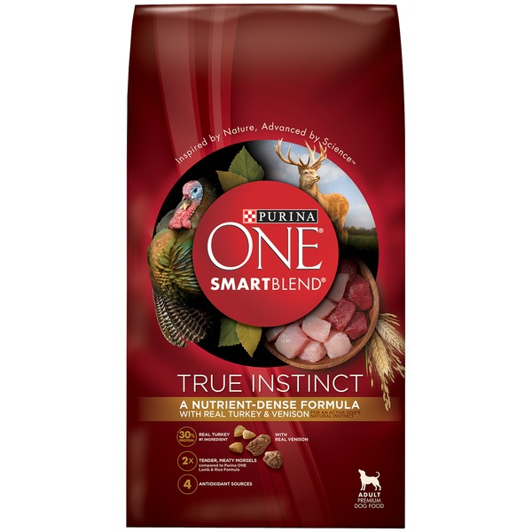 Purina One Dog Dry SmartBlend True Instinct With a Blend of Real Turkey & Venison Adult Dog Food