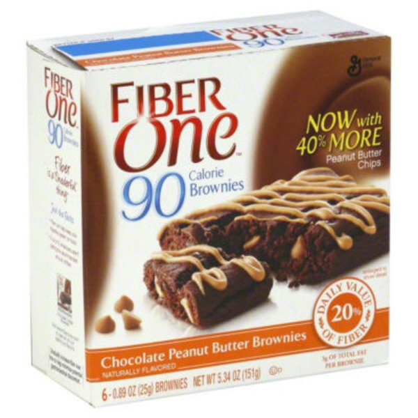 Fiber One 90 Calorie Chocolate Peanut Butter Brownies