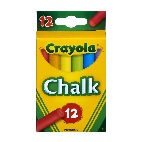 Crayola Colored Chalk Sticks - 12 PK
