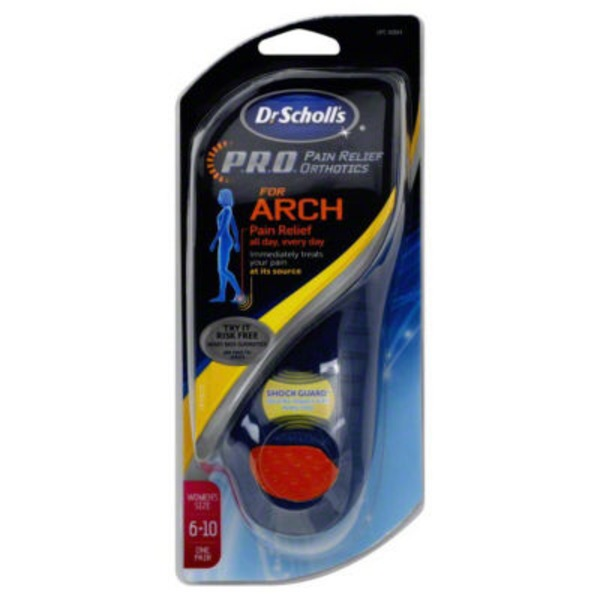 Dr. Scholl's P.R.O. Women's Size 6–10 for Arch Pain Relief Orthotics