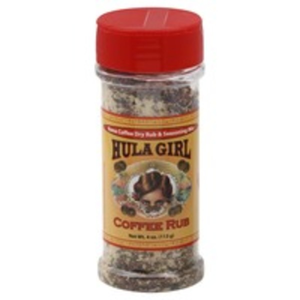 Hula Girl Coffee Rub, Kona Coffee Dry Rub & Seasoning Mix