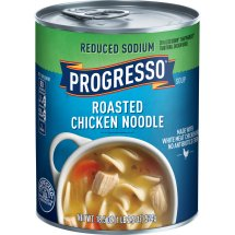 Progresso Soup, Reduced Sodium, Roasted Chicken Noodle Soup, 18.5 oz Can, 18.5 OZ