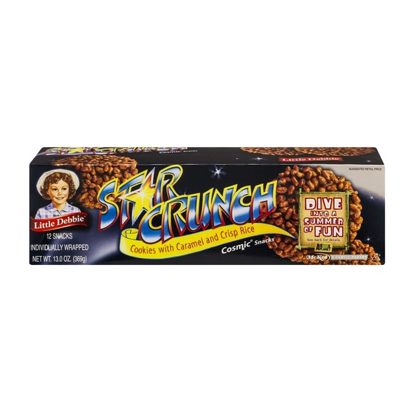 Little Debbie Star Crunch Cosmic Snacks - 12 CT