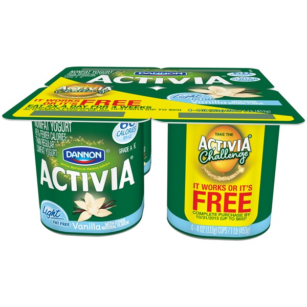 Activia Light Low Vanilla Probiotic Nonfat Yogurt