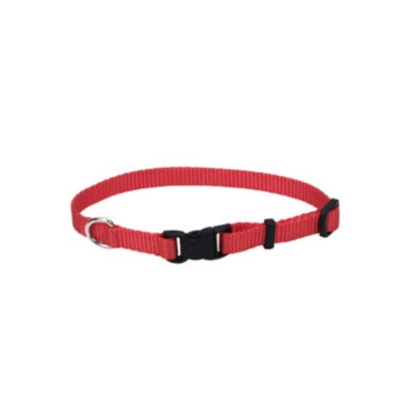 Coastal Pet 8.5 Inch Red Adjustable Nylon Collar
