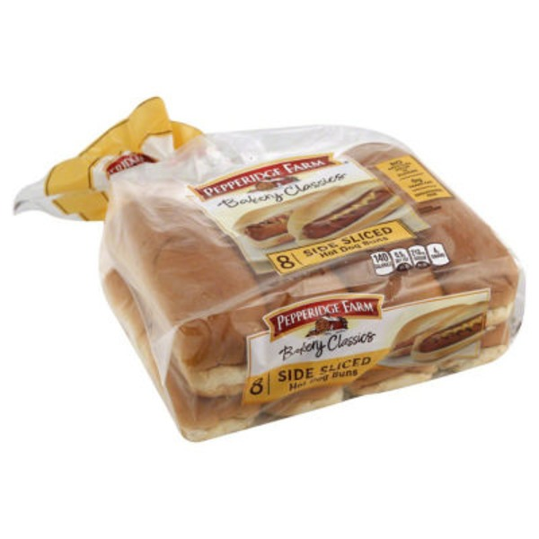 Pepperidge Farm Fresh Bakery Classic Side Sliced Hot Dog Buns