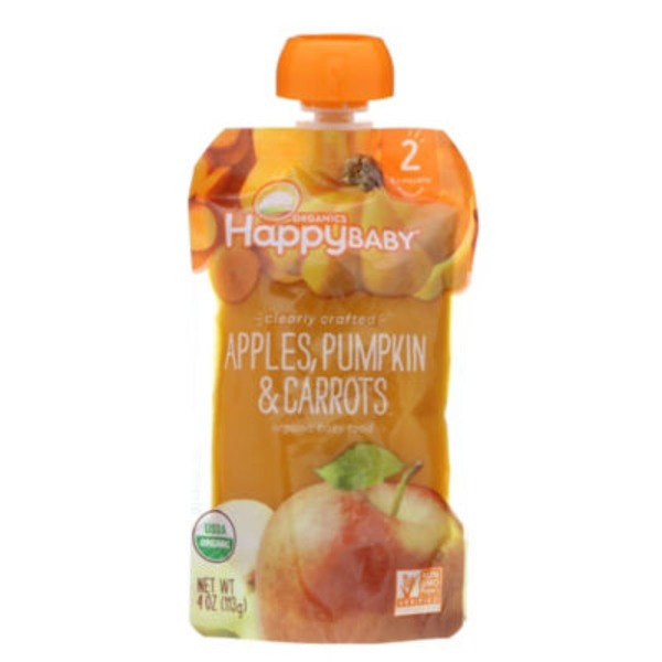 Happy Baby/Family Apples, Pumpkin & Carrots Organic Baby Food