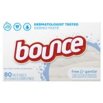 Bounce® Free & Gentle™ Dryer Sheet 80 ct Box
