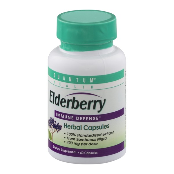 Quantum Health Elderberry Immune Defense Herbal Capsules - 60 CT