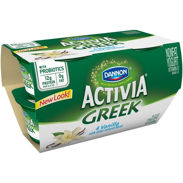 Activia Greek Greek Vanilla Nonfat Probiotic Yogurt