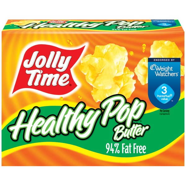 Jolly Time Healthy Pop Butter 3 Oz Bags Microwave Pop Corn