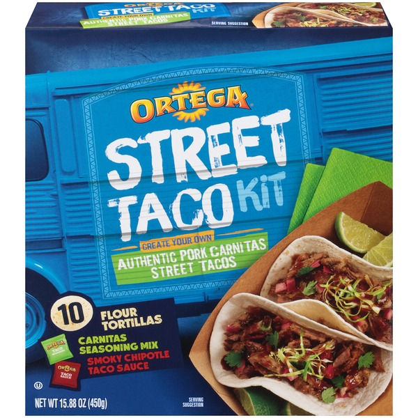 Ortega Authentic Pork Carnitas Street Taco Kit
