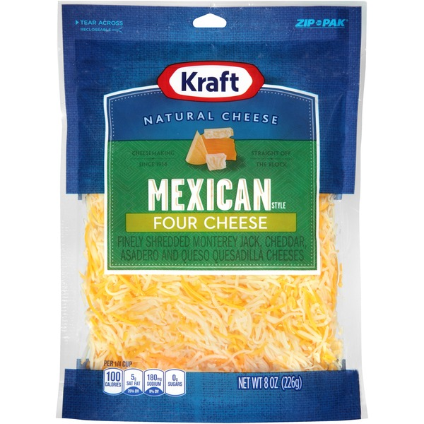 Kraft Finely Shredded Mexican Style Four Cheese