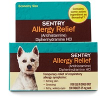 Sentry Pro Allergy Relief Dog Tablets 100 Count