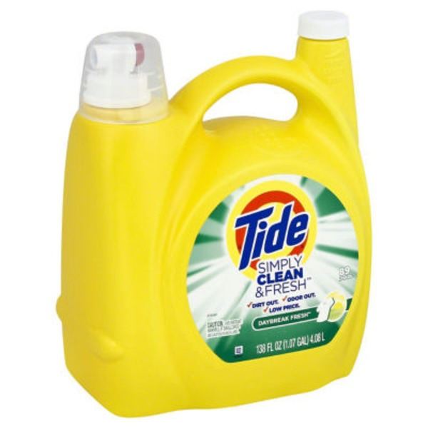 Tide Simply Clean and Fresh Daybreak Fresh Liquid Laundry Detergent 89 Loads, 138 Fl Oz Laundry