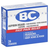 BC Aspirin Pain Reliever Headaches & Body Aches Powders - 24 CT