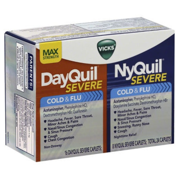 Vicks DayQuil/NyQuil Severe Caplets Cold & Flu