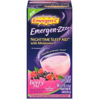 Emergen-C Emergen-Zzzz Nighttime Sleep Aid with Melatonin Berry PM Drink Mix Dietary Supplement