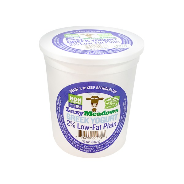 Lazy Meadows 2 Percent Plain Greek Yogurt