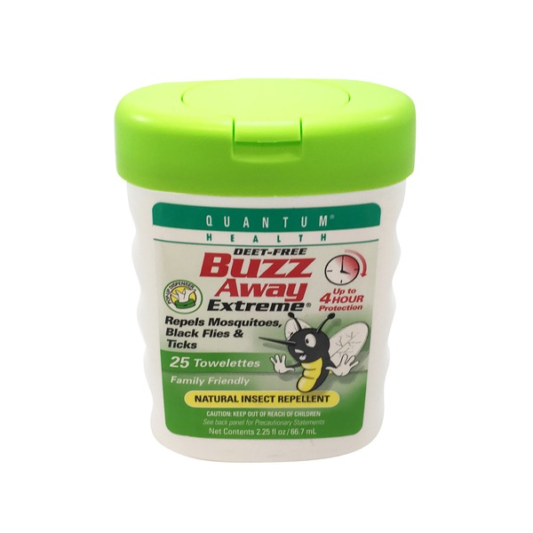 Buzz Away Extreme Natural Insect Repellent Towelettes
