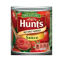 Hunt's No Salt Added Tomato Sauce, 8 Oz.