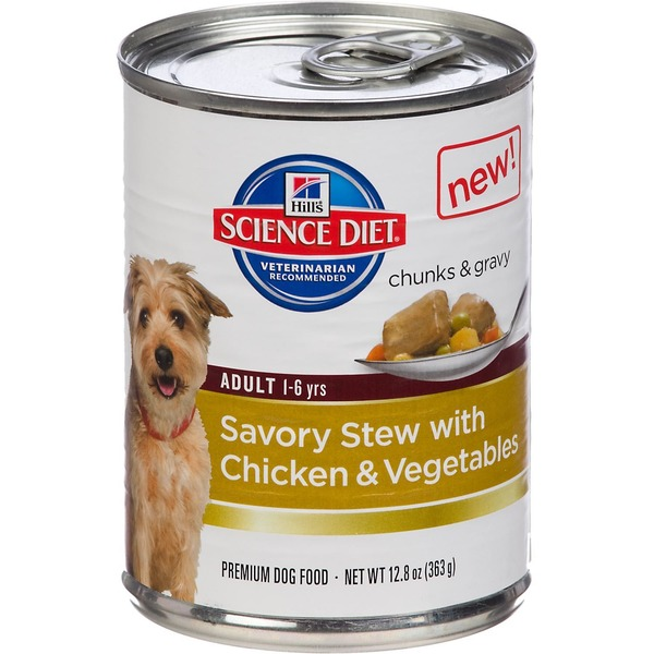 Hill's Science Diet Dog Food, Premium, Adult, Savory Stew with Chicken & Vegetables
