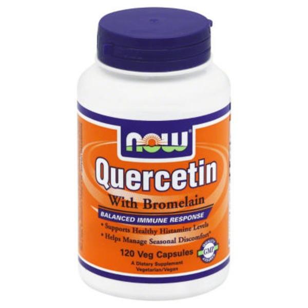 Now Quercetin With Bromelain V-Caps