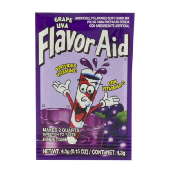 Flavor Aid Unsweetened Grape Drink Mix