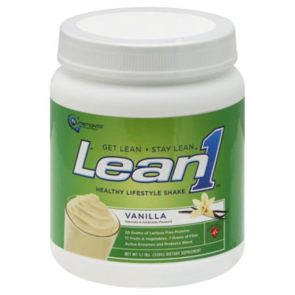 Nutrition 53 Lean 1 Healthy Vanilla Lifestyle Shake