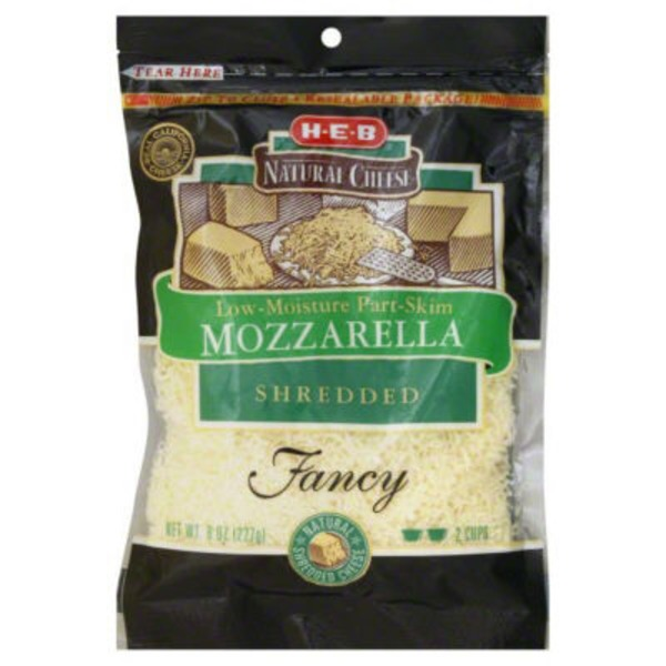 H-E-B Mozzarella Fancy Shredded Cheese