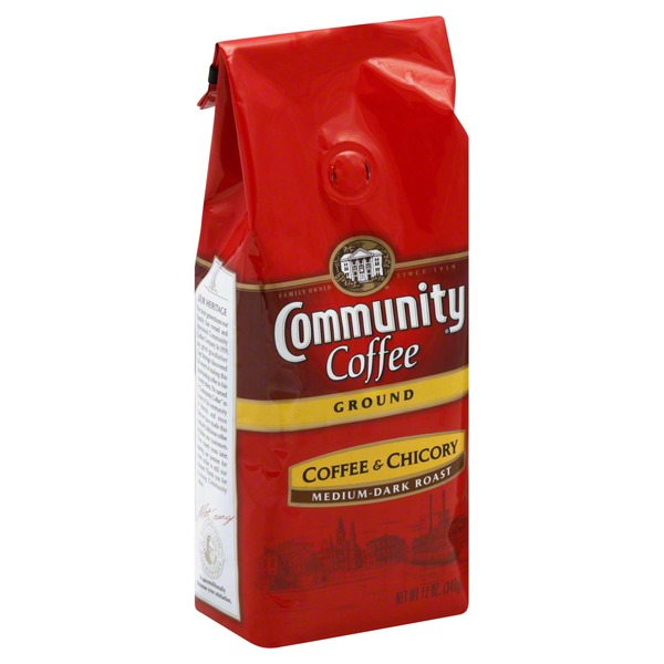 Community Coffee Coffee, Ground, Medium-Dark Roast, Coffee & Chicory
