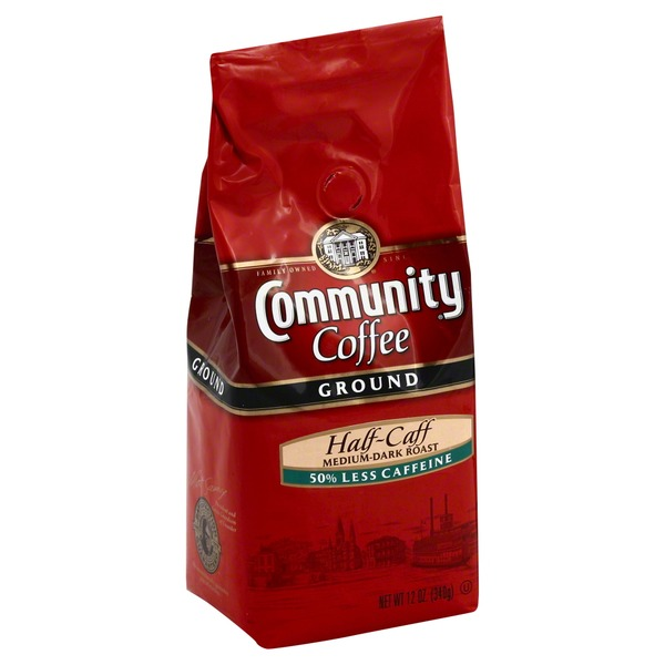 Community Coffee Coffee, Ground, Medium-Dark Roast, Half-Caff