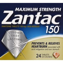 Zantac 150mg Maximum Strength Ranitidine / Acid Reducer Tablets, 24ct