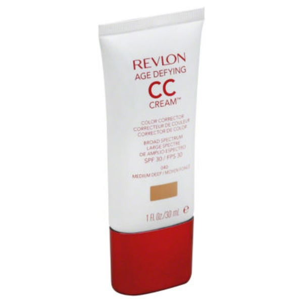 Revlon Broad Spectrum SPF 30 Age Defying Color Corrector CC Cream, Medium Deep 040