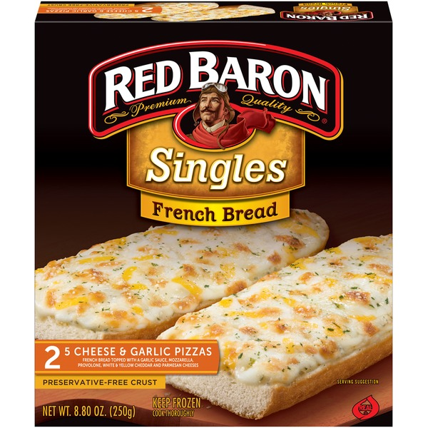 Red Baron Singles French Bread 5 Cheese & Garlic Pizza