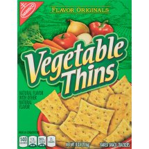 Nabisco Vegetable Thins Baked Snack Crackers, 8 oz