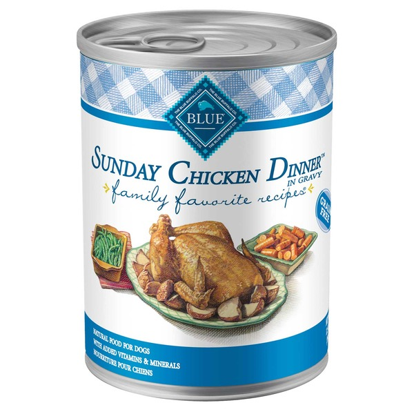 Blue Buffalo Sunday Chicken Dinner in Gravy Grain Free Natural Food for Dogs