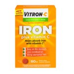 Vitron-C High Potency Iron Plus Vitamin C Coated Tablets - 60 CT