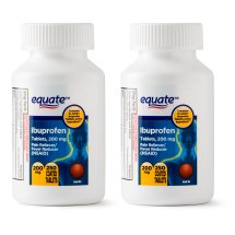 Equate Pain Relief Ibuprofen Coated Tablets, 200 mg, 250 Ct, 2 Pk