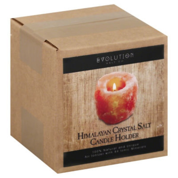 Evolution Salt Himalayan Crystal Salt Candle Holder