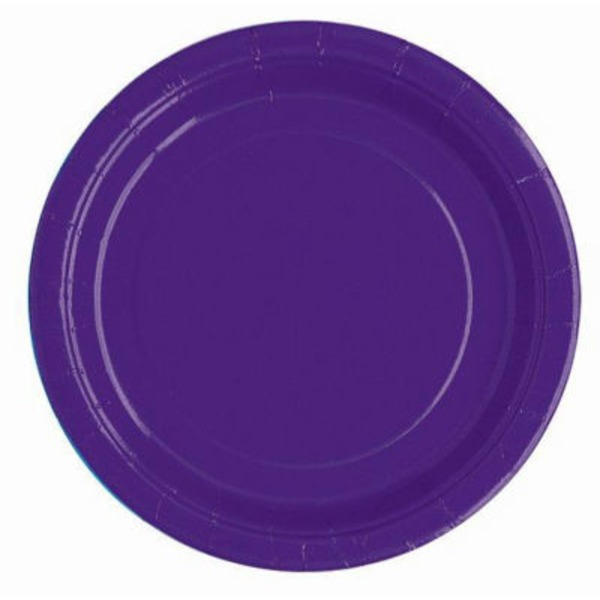 Unique Purple 9 Inch Plate
